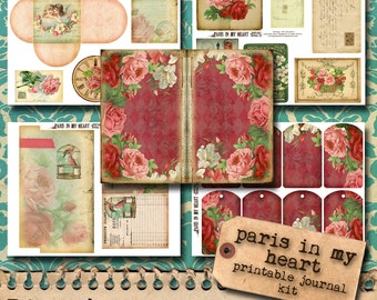 Paris In My Heart - Printable Journal Kit