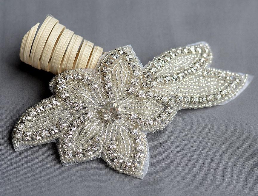 Rhinestone Appliques Wedding Dress