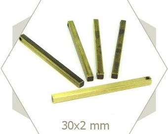 raw brass 30 mm LB05 bars 20 charms