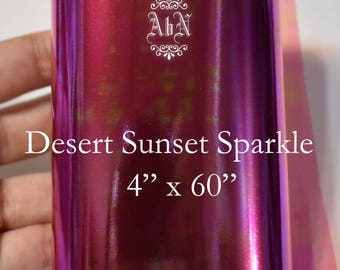 Angelina Fusible Film for Fairy Wings - Desert Sunset Sparkle 4 by 60 - For OOAK Art Dolls