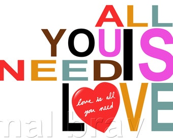 The Beatles, All You Need is Love, print, poster