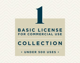 One Basic Commercial License // Collection // for commercial use of one collection up to 500 units
