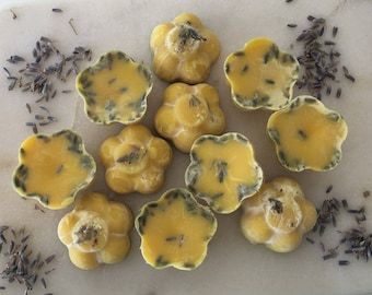 Lavender Flower Bath Melts/Hard Lotion/ /Cocoa Butter/ Shea Butter/ 1 1/4oz/ Spring/ Gifts