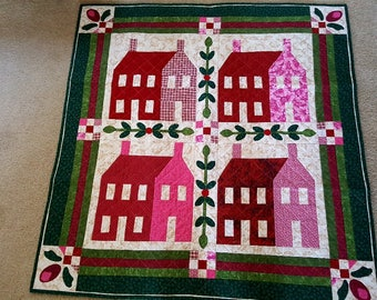 Quilted Wall Hanging, Wall Decor, Quilted Wall Decor, Wall Decoration, Appliqued wall hanging
