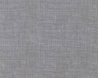 Gray Screen Texture Print Cotton Quilting Sewing Fabric - Steel