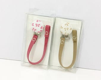 Beautiful bow pacifier clips great gift leather pacifier clip