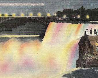 Niagara Falls, New York, American Falls, Goat Island - Vintage Postcard - Postcard - Unused (CCC)