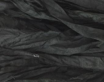 SARI SILK RIBBON - Coal Black