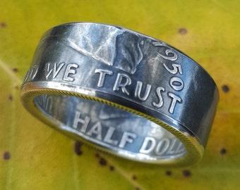 Ben Franklin Silver Coin Ring