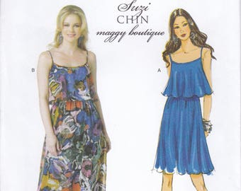 FREE US SHIP Butterick 5755 Sewing Pattern Suzi Chin Maggy Boutique Dress Size 6/14 14/20 Bust 30 32 34 36 38 40 42 44 Plus New Out of Print