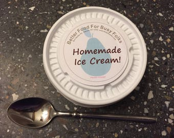 Homemade All Natural Ice Cream