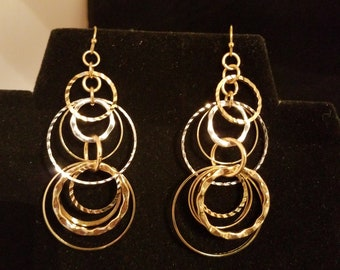 Silver and Gold Earring Loops
