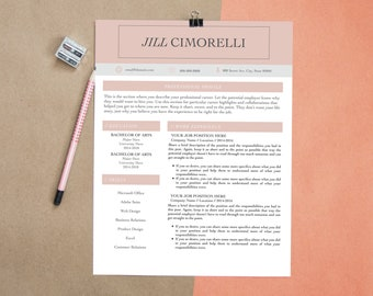 Resume Template, CV Template for MS Word and Pages, Creative Resume, Modern Resume Design, Professional Resume, 2 Page Resume & Cover Letter
