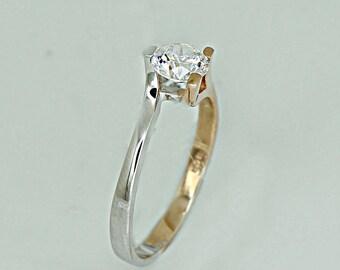Modern golden ring K14