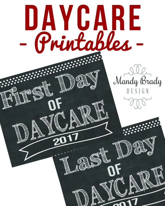 daycare printables