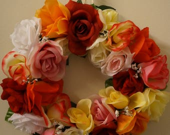 "9"" Rose Wreath"
