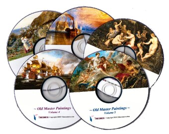 Create & Sell Art Prints from Old Masters Paintings - GIANT PACKAGE DEAL! Discs or Downloads