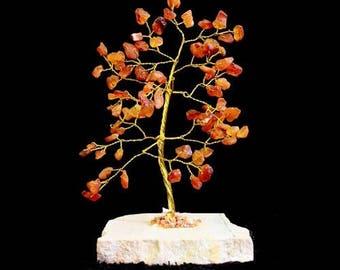 Tree of life 80 carnelian stones