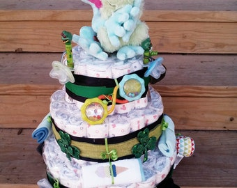 Uniquely gifted diaper cakes