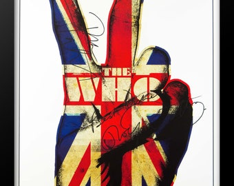 The Who - British Fingers Signed Poster