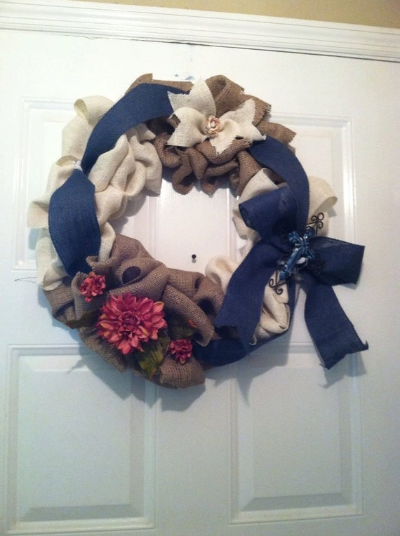 Country Home Decor - Country Wedding - Rustic Home Decor - Rustic Wedding - Everyday Wreath - Front Door Wreath - Fireplace Mantel Decor