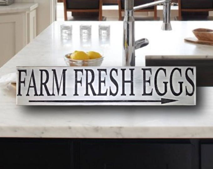 chicken lover gift, farm fresh eggs sign, farmhouse sign, Christmas gifts for mom, country primitive decor, rustic kitchen decor, distressed