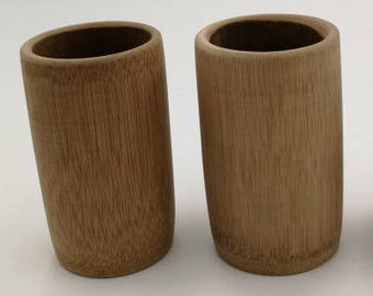 Free Shipping Chinese Calligraphy Material  Natural Bamboo Brush Container 9 or 12cm height 5-6 or 6-7cm diameter no paint