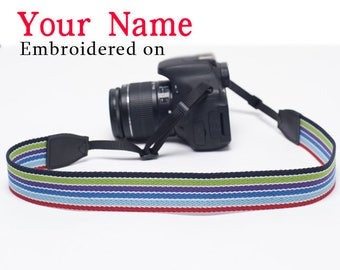 DSLR camera strap Christmas Gift Custom  Camera Strap  Personalized  Embroidered DSLR Sony, Nikon, Canon Photography Gift Birthday Gift Cf9