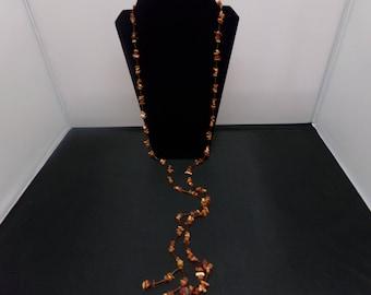 Tiger Eye Wrap Necklace