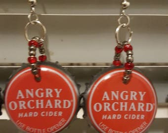 Angry orchard bottle cap earrings