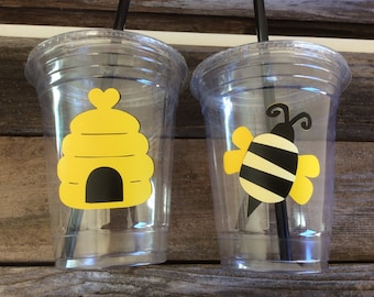Bumble Bee Party Cups - Party Cups, First Birthday, Baby Shower, Birthday Party