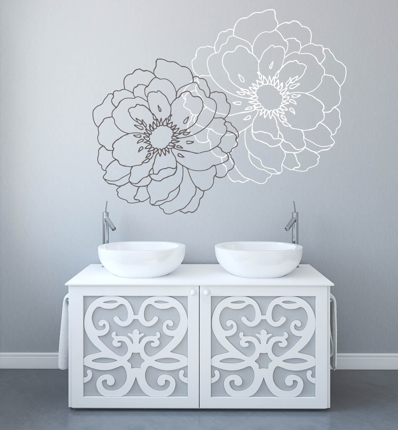 Modern Flower Wall Decals For Walls Stickers For Walls