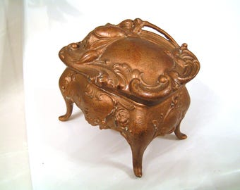 Lovely Art Nouveau Jewel Casket / Jewelry Box / Lidded Box / Trinket Box