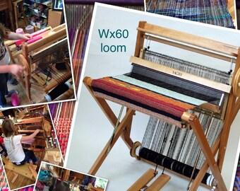saori wx60 FOLDING wood loom physically  in stock ready to ship or pick up from my studio    : Saorisantacruz
