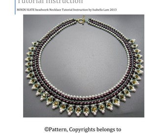 MINDU KATE SuperDuo Beadwork Necklace Pdf tutorial instructions for personal use only