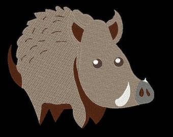 Wild Hog Embroidery Design 4x4 & 5x7 Instant Download!