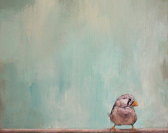 Flying Solo - Giclée Print of original Acrylic Painting by Spring Hofeldt