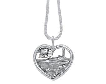 Sterling Silver Beach Heart