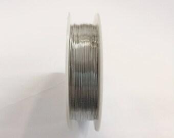Copper wire 0.30 mm silver for jewellery designs