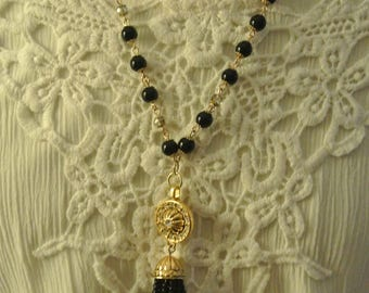 Lovely Beaded Necklace with Tassel