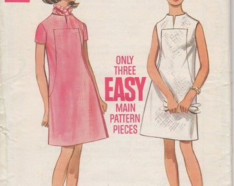 Bust 38-FACTORY FOLDED 1960's Misses' Dress Butterick 5173 Size 16