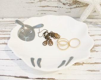 Sheep dish soap dish spoonrest lamb ring holder jewelry plate tea bag pill dish