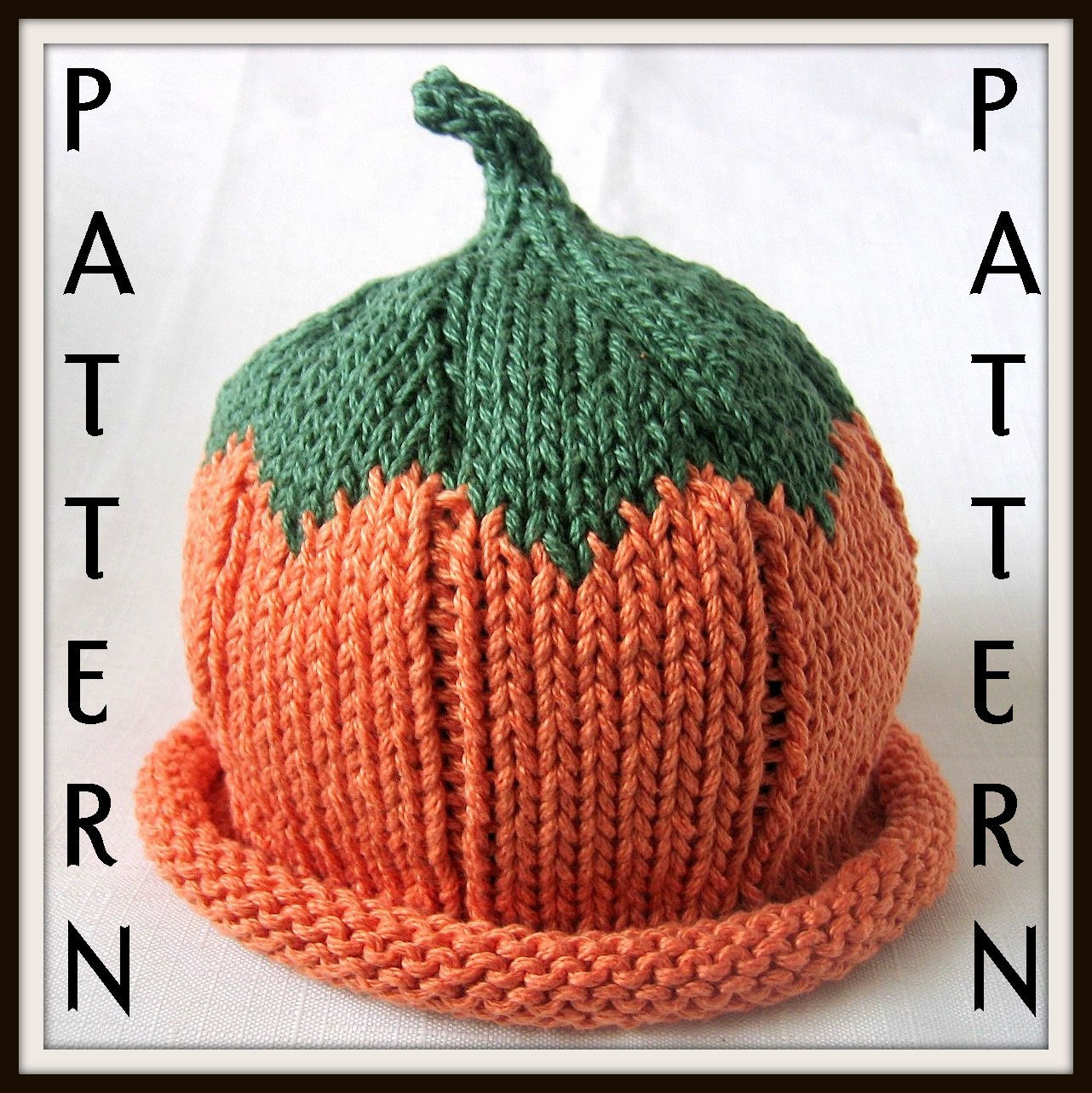 Baby Pumpkin Hat Knitting Pattern Boston Beanies