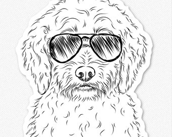 Teddy the Labradoodle - Labrador Poodle Mix Decal Sticker, Labradoodle Lover, Gifts For Dog Owner, Dog Breed Sticker, Dog Decal