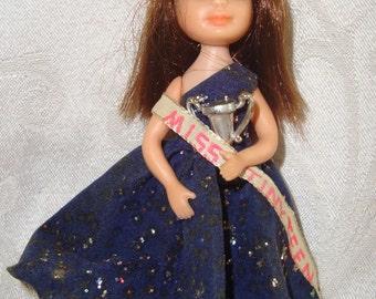Vintage 1967 Uneeda Tiny Miss Teen Doll Prom Time