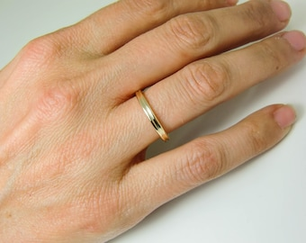 10K Gold Ring - Real 10K Gold Double Ring - Pure 10 Karat Gold Rings - Two Rings Together