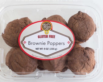 Gluten Free Brownie Poppers
