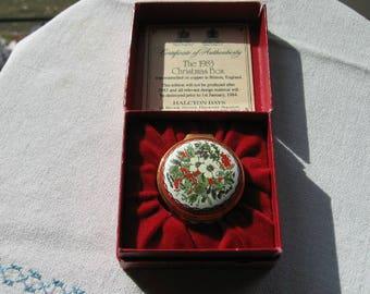 1983 Christmas Box Halcyon Days Enamel on Copper