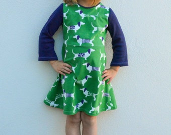 Children's Sewing Pattern: The Game Day Jersey sizes 2  to 10 (PDF Digital Pattern)