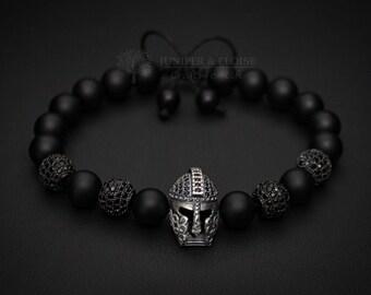 Helmet Bracelet, Game Of Thrones inspired Mens Bracelet, Zircon Beads, Bracelet For Men, Wholesale Bracelets available, Pulsera, Armband